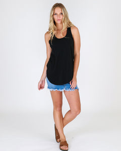 Hamilton Tank Black - Debbie Lee Fashions
