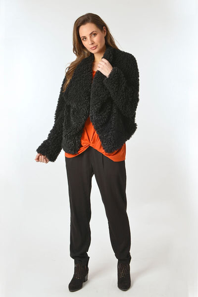 Faux Fur Jacket - Debbie Lee Fashions