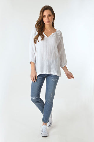 White Top - Debbie Lee Fashions
