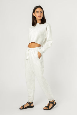 Carter Classic Trackpant - Snow Marle
