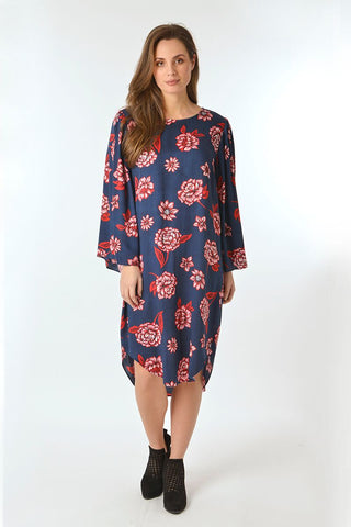 Bell Sleeve Dress - Debbie Lee Fashions