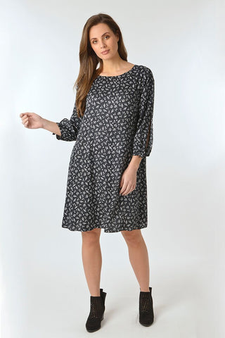 Print Dress - Debbie Lee Fashions