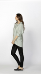 Meera Oversized Shirt Mint - Debbie Lee Fashions