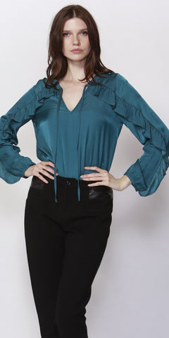 Richmond Frilled Blouse - Debbie Lee Fashions