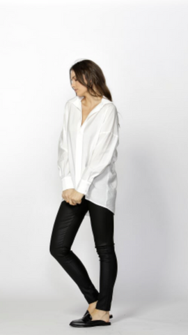 Meera Oversized Shirt White - Debbie Lee Fashions