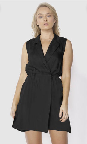 Smooth Talker Romper - Black Magic