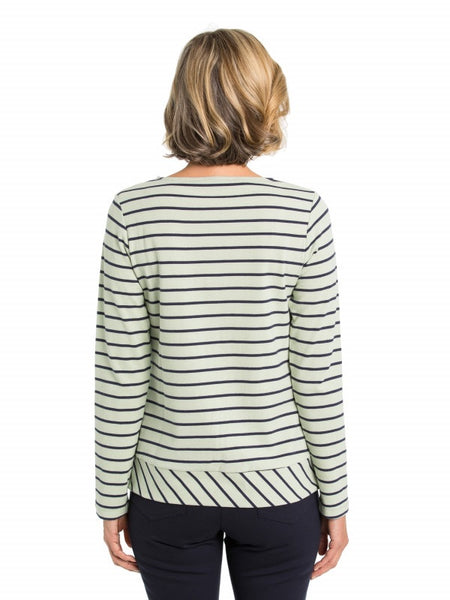 Diagonal Stripe Tee - Debbie Lee Fashions