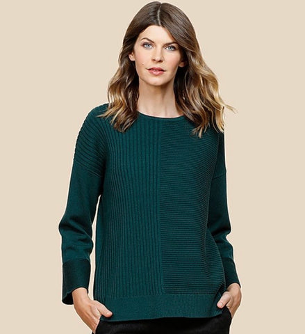 Curated Cashmere Multi Rib Sweater