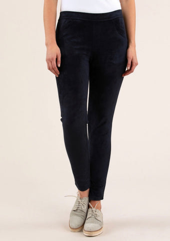 Suede Jegging Navy - Debbie Lee Fashions