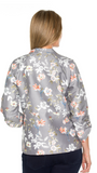 Printed Zip Front Jacket - Debbie Lee Fashions