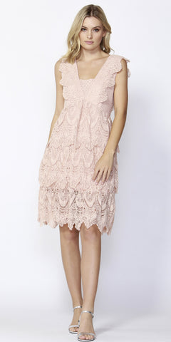 French Quarter Lace Dress - Debbie Lee Fashions
