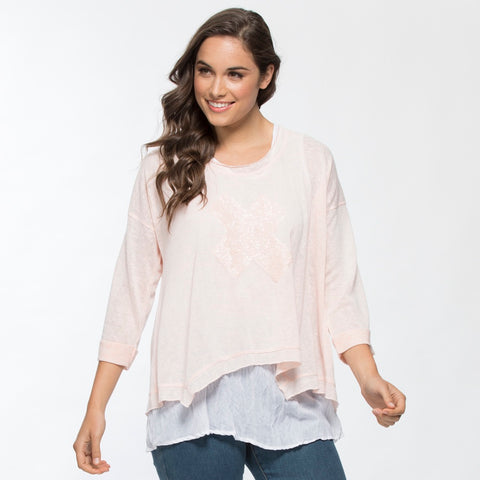 Threadz Sequin Cross 2-In-1 Top