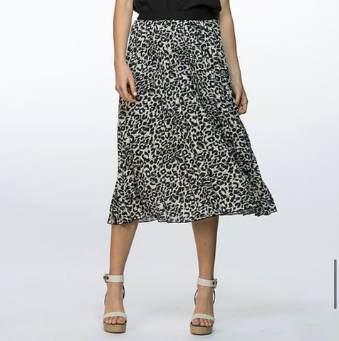 Threadz Animal Pleat Skirt - Debbie Lee Fashions