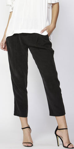 Notting Hill Pintuck Pants Black - Debbie Lee Fashions