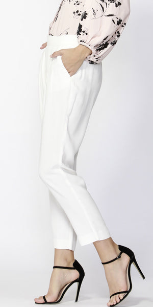Notting Hill Pintuck Pant Pearl - Debbie Lee Fashions