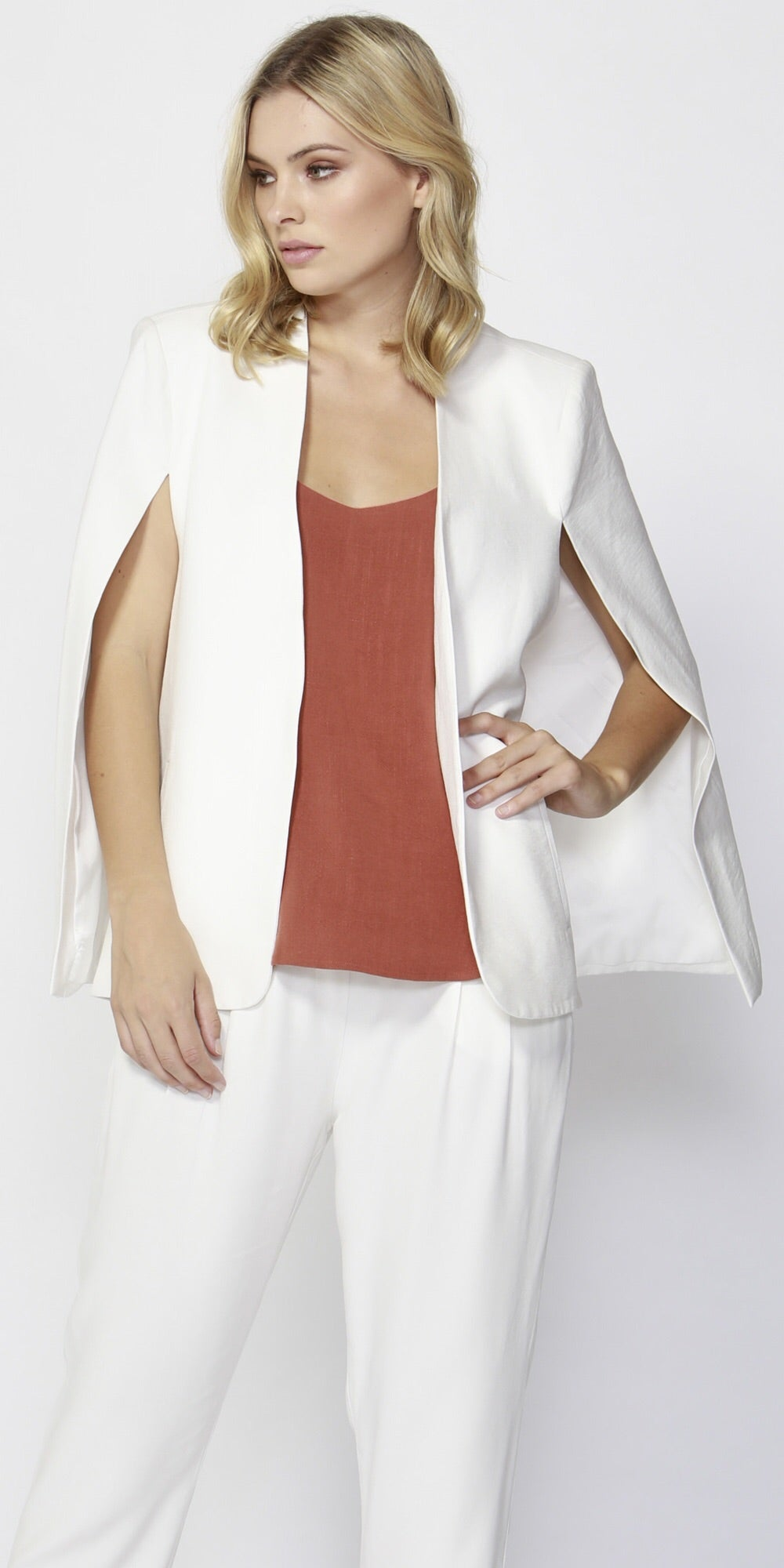 Uptown Cape Blazer - Debbie Lee Fashions