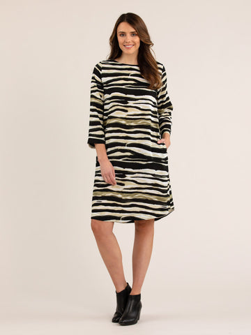 Zebra Print Dress - Debbie Lee Fashions