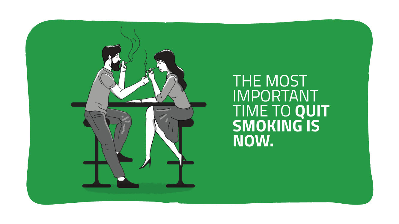 THE MOST IMPORTANT TIME TO QUIT SMOKING IS NOW. FIND OUT WHY
