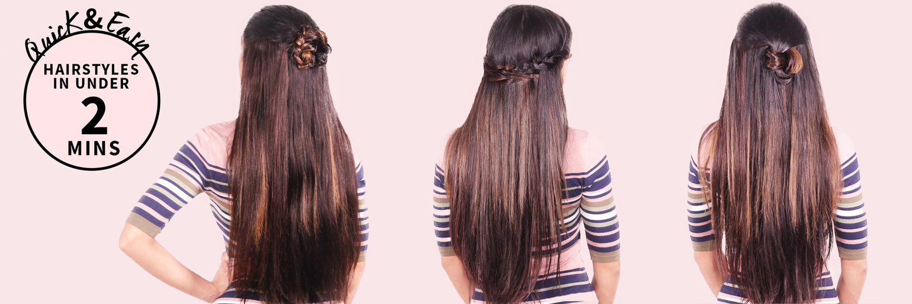 3 Easy Everyday Hairstyles Hairstyles In Under 2 Minutes Razzl