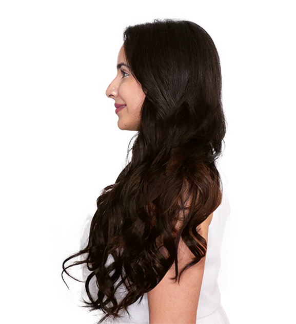 After side transformation dark brown clip-in hair extension