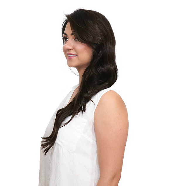 Before side transformation coffee brown clip-in hair extensions