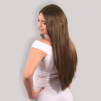 clip-in hair extensions in 160 grams, 20 inches in coloured caramel brown (4)