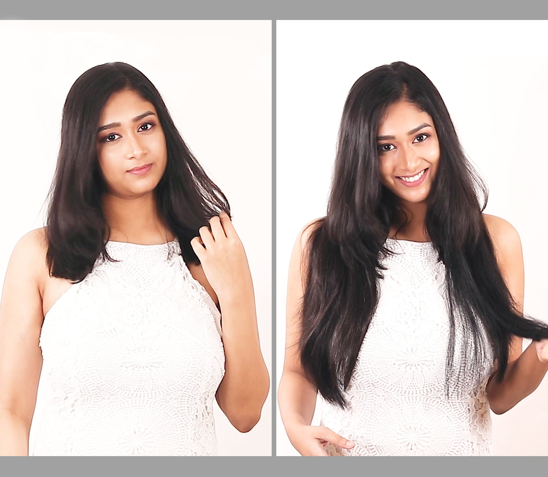 Clip-in hair extensions instant length