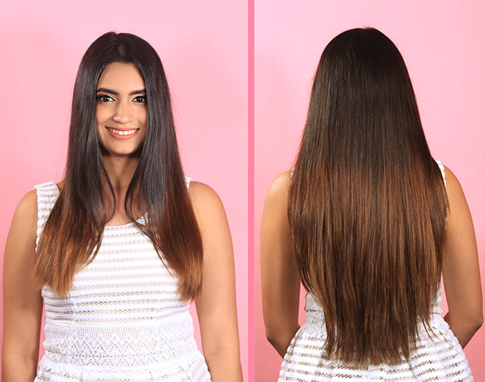 Clip-in hair extensions instant transformation