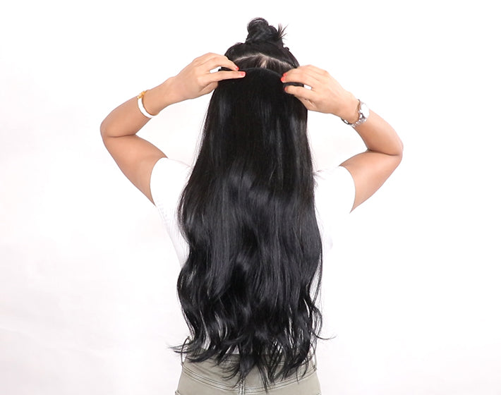 Damage free clip-in hair extensions