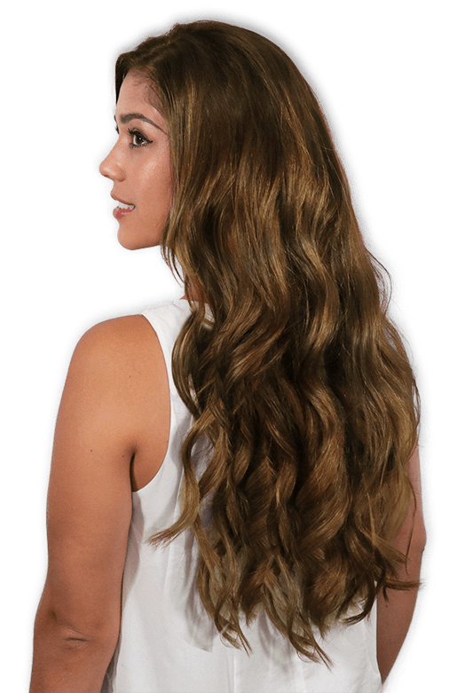 100 Human Hair Clip In Hair Extensions In Chestnut Brown 6