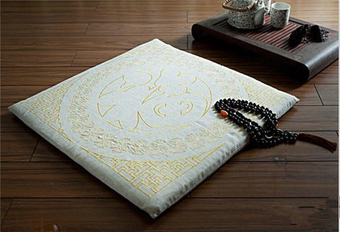 Floor Meditation Cushion 60cm Embroidered