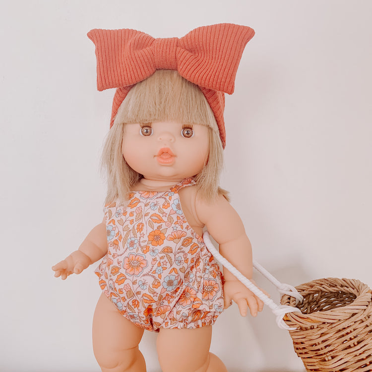 Doll Bow Topknot - Rust