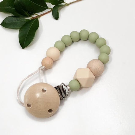 Silicone Dummy Holder - Pale Olive