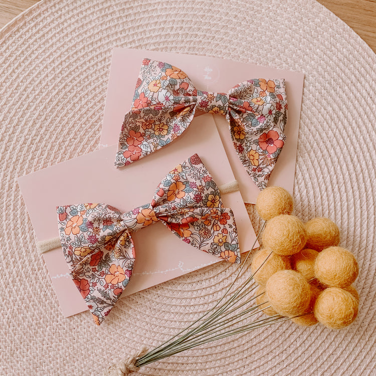 Autumn Floral Sailor Bow
