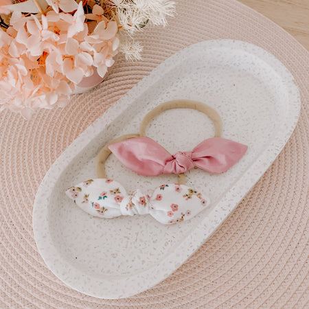 Blush Garden Bow set