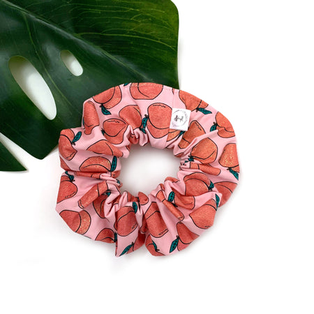 Peach print scrunchie, one size fits most, by Rose and Thea