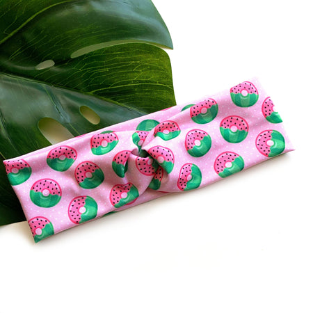 Watermelon Donut Topknot Headband by Rose and Thea
