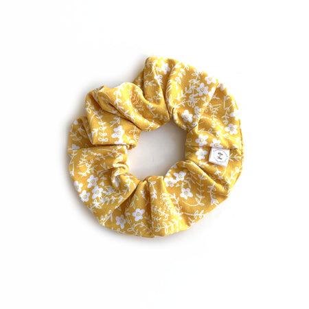 Honey Floral Scrunchie
