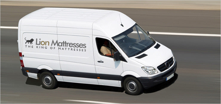 Lion Mattresses Delivery Van