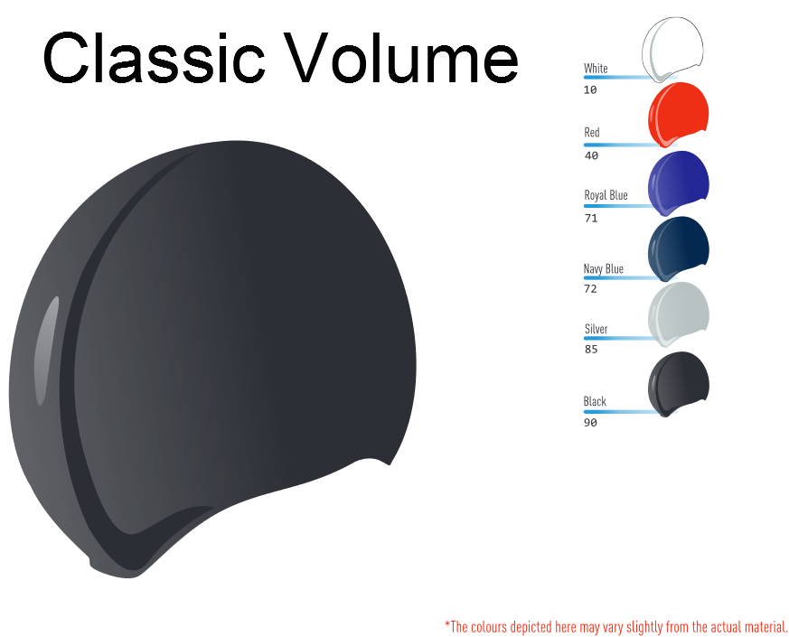Classic volume swim caps