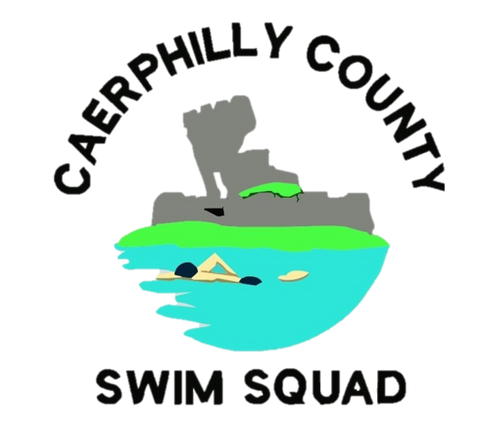 caerphilly county swim squad logo buy team kit