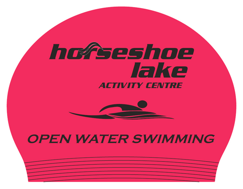 horseshoe lake open water swimming custom swim cap