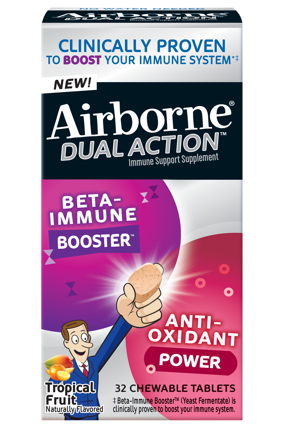Airborne® Dual Action™ Chewables - Tropical