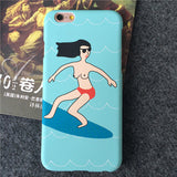 FRSH Funny Surfing Design ultrathin frosted phone Cases For Apple iPhone