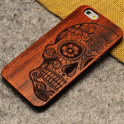FRSH Thin Luxury Bamboo Wood Phone Case For Iphone 5 5S 6 6S 6Plus 6S Plus 7 7Plus Cover Wooden High Quality Shockproof