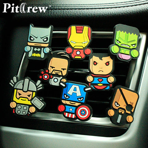 FRSH Cartoon Car Air Freshener   (The Avengers, Star Wars,  Marvel and Superman)
