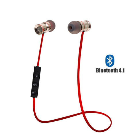 RED ChargeSound Wireless Bluetooth 4.1 Earphones with Microphone