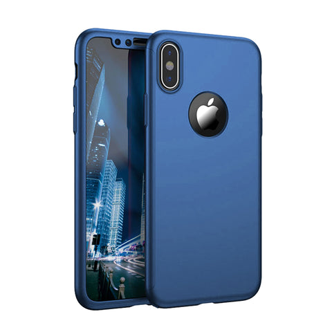 360° Син кейс за Apple iPhone X