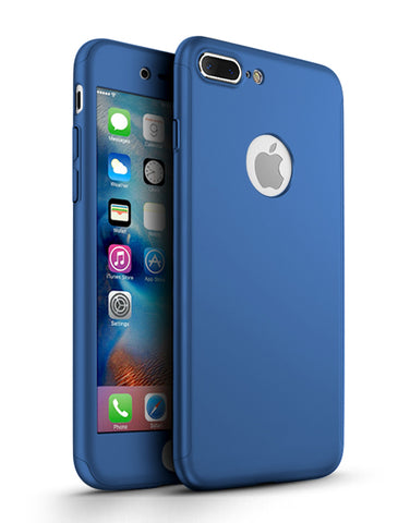 360 калъф Apple iPhone 8 Plus - Син
