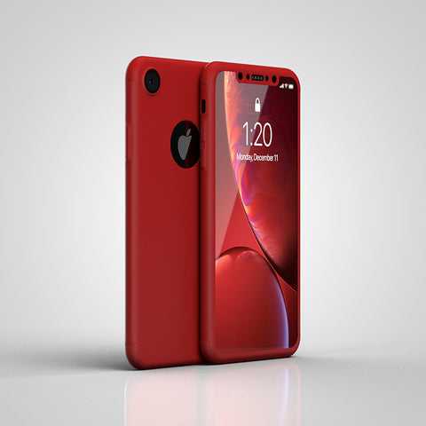 360° кейс за Apple iPhone XR -Червен